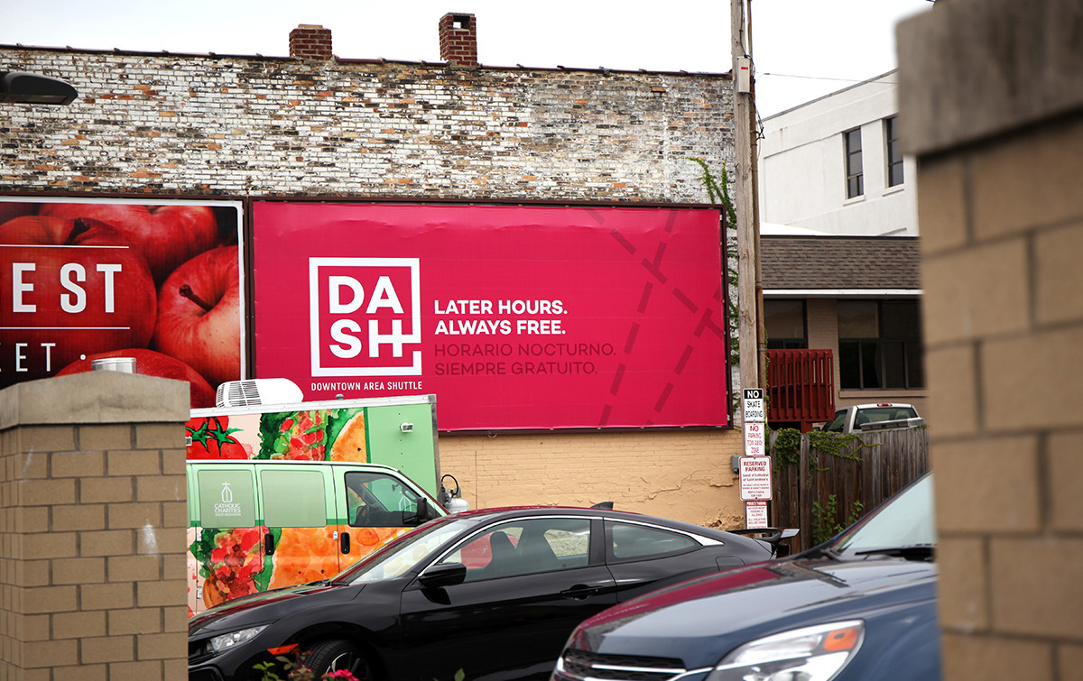 DASH billboard - Later hours. Always free.