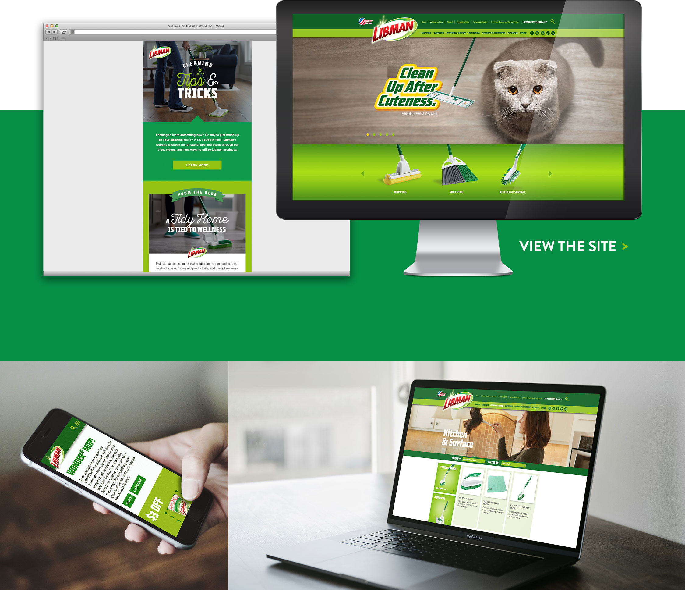 website displayed on multiple devices
